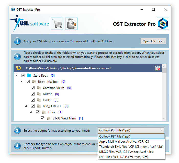 how to convert ost to pst file
