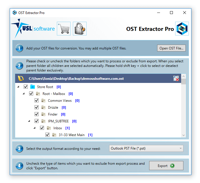 how to convert ost to pst
